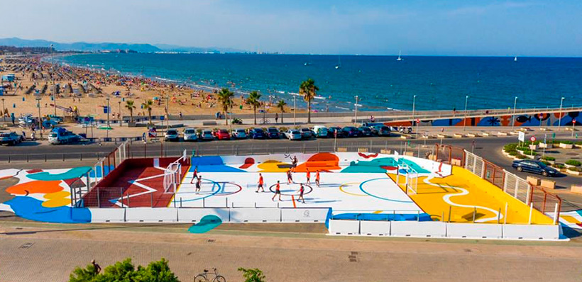 fixer participa en el proyecto de la pista deportiva de la marina de valencia - fixer